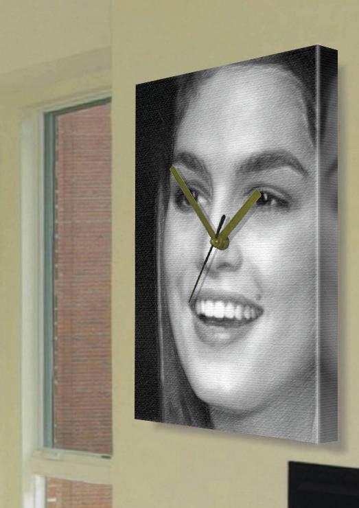 Cindy crawford a4 original art canvas clock 03